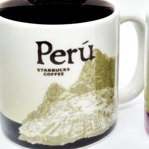 Starbucks Kitchen - 2 Starbucks Demitasse Espresso Cups Peru & Lima